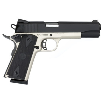 "Armscor Rock Island 1911, Full Size, 45ACP, 5"" Barrel, Steel Frame, Duo Tone Finish, Synthetic Grips, Novak Fixed Sight, 8 Rounds 51447, UPC :4806015514473"