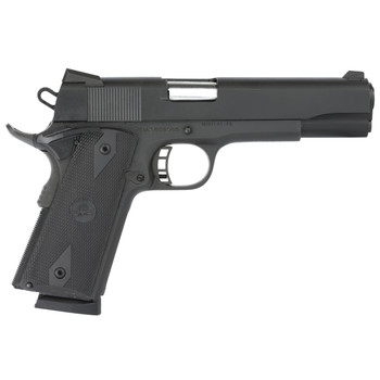 """Armscor Rock Island 1911, Full Size, 9MM, 5"""" Barrel, Steel Frame, Parkerized Finish, Black Finish, Rubber Grips, Fixed Sights, 9Rd, Fired Case 51632, UPC :4806015516323"""