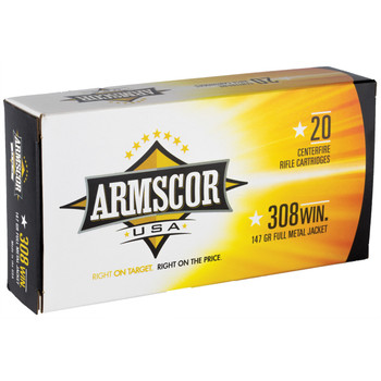 Armscor 308 Win, 147 Grain, Full Metal Jacket, 20 Round Box FAC308-1N, UPC :812285020143