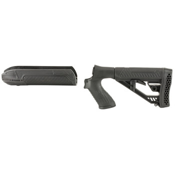 Adaptive Tactical EX Performance Stock Kit, Fits Mossberg 500 12 Gauge, Forend and M4 Style Stock, Black Finish AT-02006, UPC :682146910773