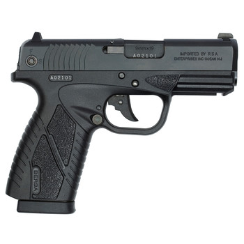 "Bersa Conceal Carry, Double Action Only, Compact, 9MM, 3.2"" Barrel, Matte Black Finish, Polymer Frame, Adjustable Sights, 8Rd, 1 Magazine BP9MCC, UPC : 091664910903"