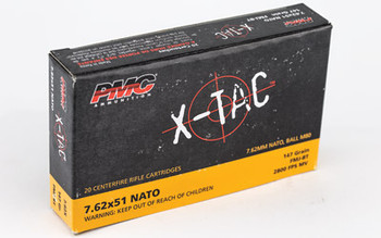 PMC XTAC, 762X51 NATO, 147 Grain, Full Metal Jacket, 20 Round Box 7.62X, UPC :741569010153
