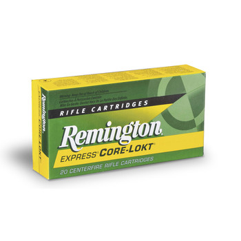 Remington Core Lokt, 243WIN, 80 Grain, Pointed Soft Point, 20 Round Box 27800, UPC : 047700051703