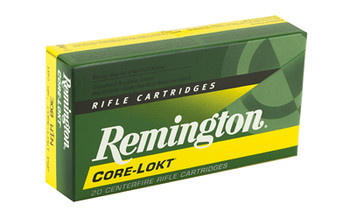 Remington Core Lokt, 308WIN, 180 Grain, Pointed Soft Point, 20 Round Box 21479, UPC : 047700056203
