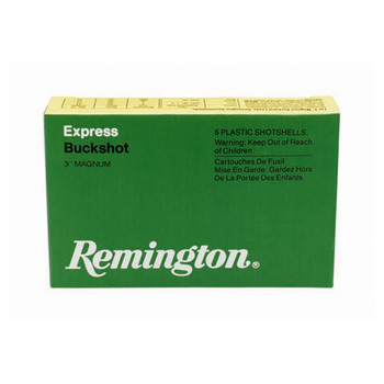 "Remington Express, 12 Gauge, 2.75"", 00 Buck, 3 Dr Buckshot, 9 Pellets, 5 Round Box 20282, UPC : 047700336503"