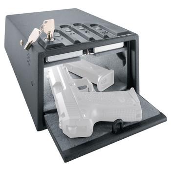 "GunVault Deluxe Mini Vault Safe, 5.25""x8.25""x12"", Digital Keypad, Black GV1000C-DLX, UPC :751077123023"