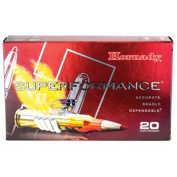 Hornady SuperFormance, 7MM REM, 154 Grain, SST, 20 Round Box 8061, UPC : 090255380613