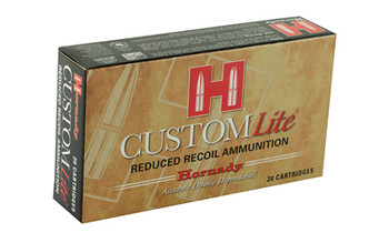 Hornady Custom Lite, 30-30, 150 Grain, Round Nose, Low Recoil, 20 Round Box 80806, UPC : 090255808063