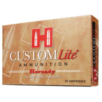 Hornady Custom Lite, 30-30, 150 Grain, Round Nose, Low Recoil, 20 Round Box 80806, UPC : 090255808063