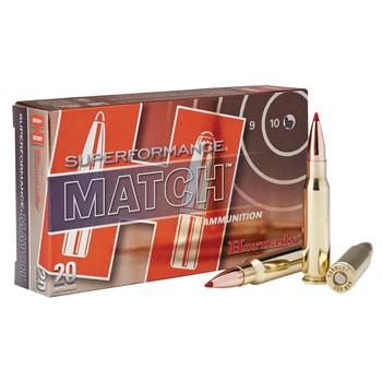 Hornady Superformance Match, 308 Win, 168 Grain, ELD Match, 20 Round Box 80963, UPC : 090255809633