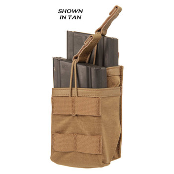 BLACKHAWK! Tier Stacked Magazine Pouch, For 20Rd M14, Black 37CL119BK, UPC :648018180453