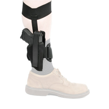 "BLACKHAWK! Ankle Holster, Size 00, Fits 2"" Barrel Small Frame 5-Shot Revolvers with Hammer Spur, Right Hand, Black 40AH00BK-R, UPC :648018100543"