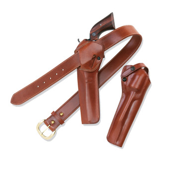 """Galco SAO Single Action Outdoorsman Holster, Fits Single Action Army With 5.5"""" Barrel, Right Hand, Tan Leather SAO166, UPC :601299176843"""