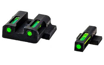 Hi-Viz LiteWave H3 Tritium/Litepipe Night Sights, Fits HK45, HK45C, P30, P30SK, VP9 and VP40, Green Front Rear MPSN321, UPC :613485589733