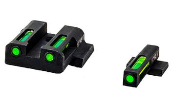 Hi-Viz LiteWave H3 Tritium/Litepipe Night Sights, Fits S&W M&P, Green Front and Rear MPN321, UPC :613485589603