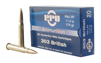 Prvi Partizan Rifle, 303 British, 174 Grain, Full Metal Jacket, 20 Round Box PP303F, UPC :8605003812593