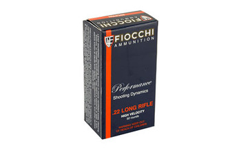 Fiocchi Ammunition Rimfire, 22LR, 40 Grain, Copper Plated Round Nose, 50 Round Box 22FHVCRN, UPC :762344710013
