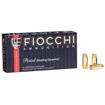 Fiocchi Ammunition Centerfire Pistol, 40S&W, 165 Grain, Full Metal Jacket, 50 Round Box 40SWF, UPC :762344706573