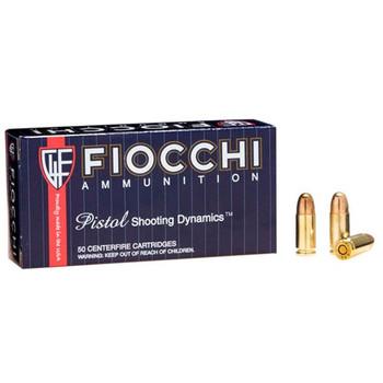 Fiocchi Ammunition Centerfire Pistol, 9MM, 158 Grain, Full Metal Jacket, Subsonic, 50 Round Box 9APE, UPC :762344001913