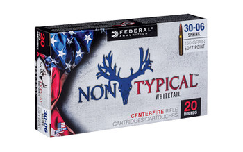 Federal Non Typical, 30-06, 150Gr, Soft Point, 20 Round Box 3006DT150, UPC :604544627053