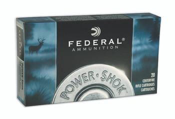 Federal PowerShok, 30 Carbine, 100 Grain, Soft Point, Round Nose, 20 Round Box 30CA, UPC : 029465084523