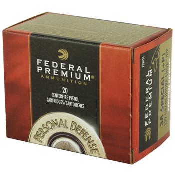 Federal Hydra-Shok, 38 Special, 129 Grain, Hollow Point, +P, 20 Round Box P38HS1, UPC : 029465088323