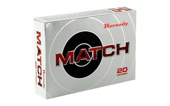 Hornady Match, 338 Lapua, 250 Grain, Boat Tail, Hollow Point, 20 Round Box 8230, UPC : 090255382303