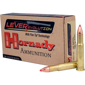 Hornady LeverEvolution, 32 Special, 165 Grain, FlexTip, 20 Round Box 82732, UPC : 090255827323