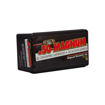 Magnum Research Blount, 50 Action Express, 300 Grain, Jacketed Hollow Point, 20 Round Box DEP50JHP300B, UPC :761226018803