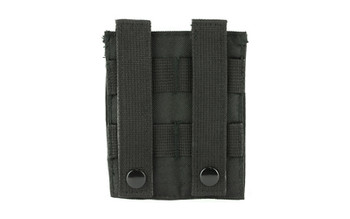 NCSTAR Double Pistol Magazine Pouch, Nylon, Black, MOLLE Straps for Attachment, Fits Two Standard Capacity Double Stack Magazines CVP2P2931B, UPC :814108017163
