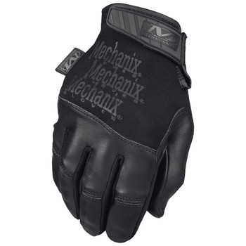 Mechanix Wear Tactical Specialty Recon Gloves, Touchscreen Capable, Covert Black, Leather, Medium TSRE-55-009, UPC :781513630563