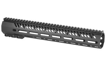 "Mission First Tactical Tekko, MLOK Rail System, Fits AR Rifles, 13.5"", Free Float, Metal, Black Finish TMARFF13MRS, UPC :814002021433"