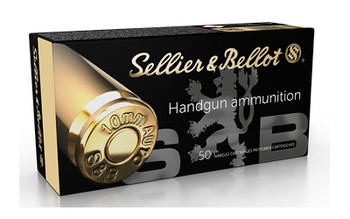 Sellier & Bellot Pistol, 10MM, 180Gr, Jacketed Hollow Point, 50 Round Box SB10B, UPC :754908500963