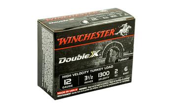 "Winchester Ammunition Double X High Velocity, Turkey, 12 Gauge, 3.5"", #6, 2oz, 10 Round Box STH12356, UPC : 020892012233"