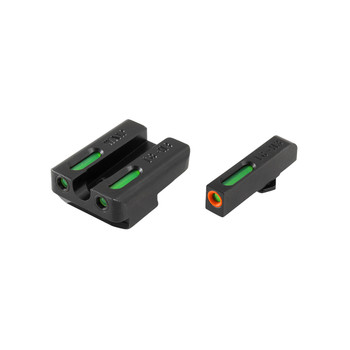 Truglo Brite-Site TFX Pro, Sight, Fits Walther P99 and PPQ, Tritium/Fiber-Optic, Day/Night Sight, 24/7 Brightness, Orange Ring on Front Sight TG13WA1PC, UPC :788130022863