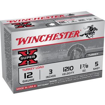 """Winchester Ammunition Super-X, 12 Gauge, 3"""", #5, 1.875 oz., Shotshell, 10 Round Box X123MT5, UPC : 020892017573"""