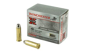 Winchester Ammunition Super-X, 41 Mag, 175 Grain, Silvertip Hollow Point, 20 Round Box X41MSTHP2, UPC : 020892201613