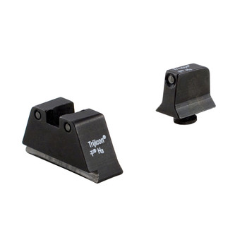 Trijicon Bright  Tough, Sight, Suppressor Set, Fits Glock 20,21,29,30 and 41 (including S and SF variants), Black Front/Black Rear with Green Lamps GL204-C-600698, UPC :719307212343