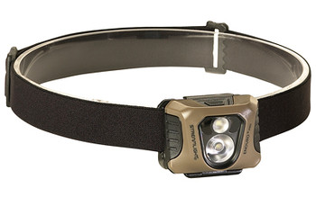 Streamlight Enduro Pro, Headlamp, Green C4 LED 200 Lumens, Three AAA Batteries, Coyote Brown Finish 61425, UPC : 080926614253