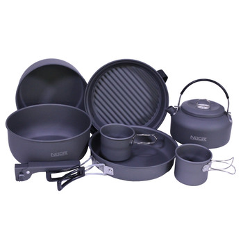 NDuR 9 Piece Cookware Mess Kit With Kettle, UPC :846271004473