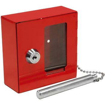 Barska Breakable Emergency Key Box W/Attached Hammer B Style, UPC :790272983643