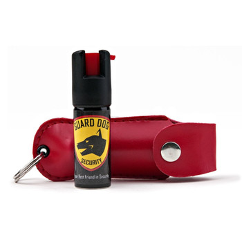 Guard Dog Hard Case Keychain Pepper Spray - Red, UPC :804879363033