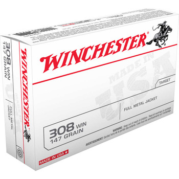CASE OF 10 USA 308 WIN 147GR FMJ BT 20/BX, UPC : 020892212633