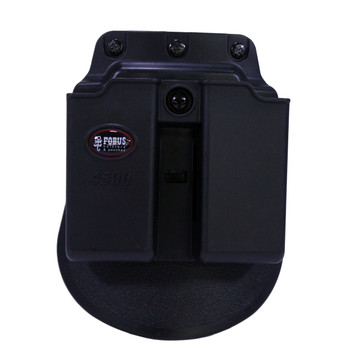 Fobus Paddle Double Magazine Pouch Single-Stack 9mm Luger or 45 ACP Polymer Black, UPC :676315000563