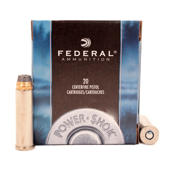 Federal Power-Shok Ammunition 357 Magnum 180 Grain Jacketed Hollow Point Box of 20, UPC : 029465093013