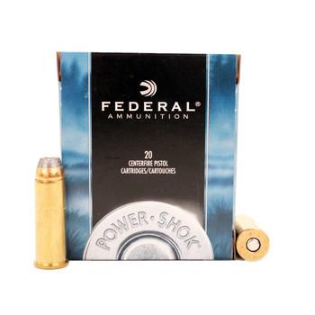 Federal Power-Shok Ammunition 44 Remington Magnum 240 Grain Jacketed Hollow Point Box of 20, UPC : 029465092863
