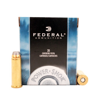 Federal Power-Shok Ammunition 44 Remington Magnum 240 Grain Jacketed Hollow Point Box of 20, UPC : 029465092863
