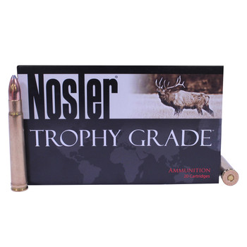 Nosler Trophy Grade Ammunition 375 H&H Magnum 260 Grain Partition Box of 20, UPC : 054041600903