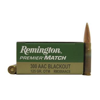 Remington Premier Match Ammunition 300 AAC Blackout 125 Grain Open Tip Match Box of 20, UPC : 047700410203