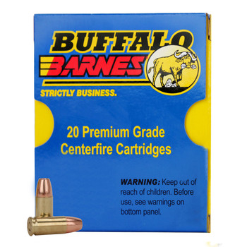 Buffalo Bore Ammunition 9mm Luger +P+ 95 Grain Barnes TAC-XP Hollow Point Lead-Free Box of 20, UPC :651815024073